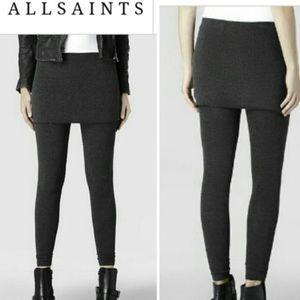 New black ALLSAINTS Raffi Leggings